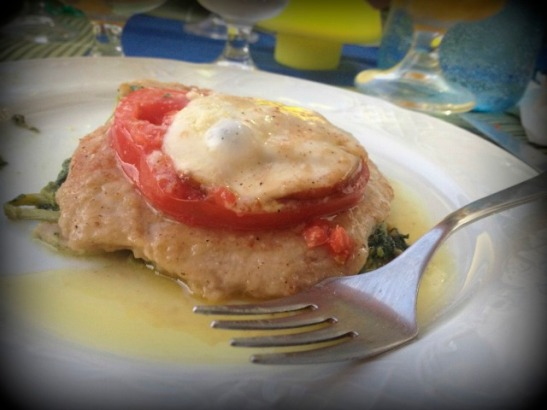 Scaloppine alla Sorentina, made by yours truly, at Mamma Camilla's