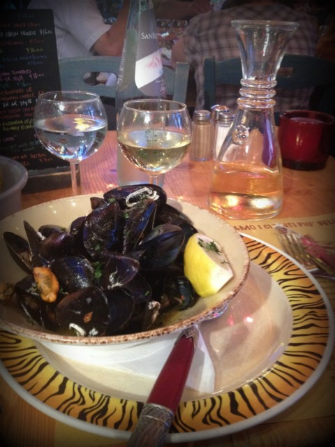 Mussels at ZaZa's in Firenze